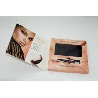 Advertising LCD video card , video booklet with customized brochure size 7inch