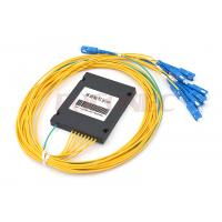 Buy cheap ABS Box Type PLC Fiber Optic Splitter 1x8 with SC / UPC Connectors , FTTH PON from wholesalers