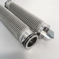 China Customized Stainless Steel Pleated Candle Filter For Water Treatment Plant on sale