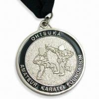 Cheap Ohtsuka Medals with Silver Shine Medal and Black Ribbon wholesale