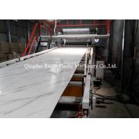 China Shopping Malls Decorative Plastic Sheet Extrusion Machine 300 - 400 Kg/Hr Extrusion Capacity on sale