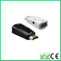 China Support 1080p hdmi to vga male to female adapter with audio converter on sale