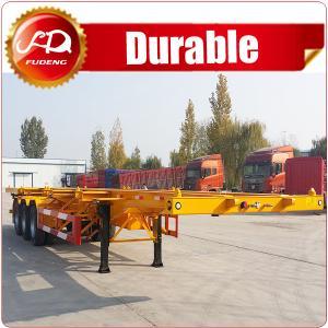 Cheap 3axle 40ft skeleton semi trailer  Container chassis , 3 axle 40FT container skeleton semi trailer for sale wholesale