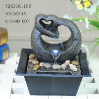 Cheap Free Standing Polyresin Water Fountain Heart Shaped Battery Powered For Home Decor for sale