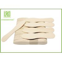 Cheap Eco - Friendly Birch Wooden Ice Cream Spoons Customized Logo And Package wholesale