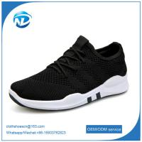 Cheap factory price cheap shoes 2019 New Design Lace-up Textile Fabric Men Sport Running Shoes wholesale
