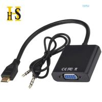 Cheap mini hdmi to vga cable with audio factory wholesale support oem high quality wholesale