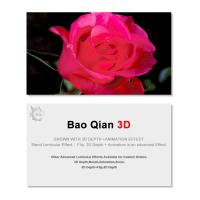 Cheap 0.6mm Thickness 89x68mm 3D Lenticular Card 3D Flip Changing Effect wholesale