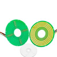 Cheap 8 Circuits Pancake Slip Ring Transmitting 12A Current and 100M Ethernet Signal wholesale