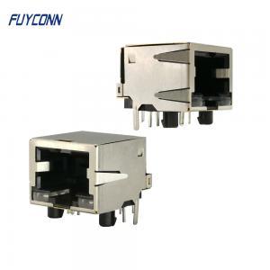 Cheap 1 Port 1x8P Right Angle PCB Female RJ45 Modular Connector wholesale