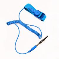 Cheap cleanroom coiled cord static dissipative ESD antistatic wrist band wholesale
