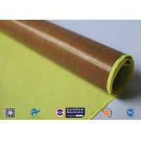 Cheap 0.13mm Self - Adhesive Tape Brown PTFE Coated Fiberglass Fabric wholesale
