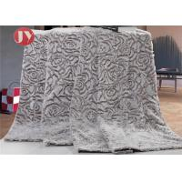 Cheap 100% polyeste pv fur mink blanket flowers embossed Faux Fur Throw Blanket & Bedspread - Luxurious Over-sized wholesale