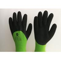 Cheap Acrylic Liner Crinkled Latex Coated Gloves Double Dipping Palm Pattern wholesale