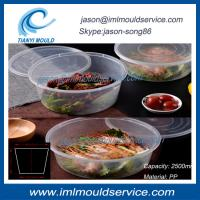 Cheap extra large clear thin wall plastic fish bowl and disposable lunch box 2500ml mould wholesale