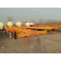 Buy cheap 30 tons Steel material 2 axles 20ft skeleton container chassis trailer / from wholesalers
