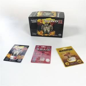 Cheap Male Sexual Performance Enhancement Pills Packaging Rhino 69 Slide 3D Effect Blister Card wholesale