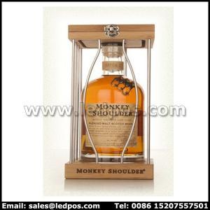 Cheap Ledpos Monkey Shouder Wood & Metal Bottle Glorifier for sale