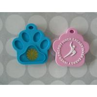 Cheap Waterproof Energy Balance Silicone Dog Tags, Pet Tag For Cat With Personalized Pattern wholesale