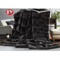 Cheap PV Plush Fur Blanket Home Hotel Luxury Faux Fur Oversized Throw Soft Cozy Brushed For Bed Coach wholesale