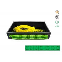 Cheap Factory directly selling price for 1x64 PLC Optical Fiber Splitter Rack optical splitter with SC APC connector wholesale