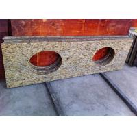 Giallo Ornamental Granite Bathroom Vanity Tops With Oval Sink Hole