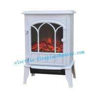 Cheap Indoor White Log Flame Effect Energy Saving Electric Fireplace 1000W / 2000W wholesale