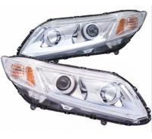 Quality 12V Honda Civic Smoke LED Car Headlights With 1 Year Warranty for sale