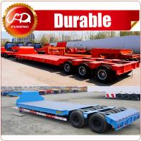 Cheap 4Lines 8Axles Heavy Duty Equipment Transport 120Ton Low Bed Lowbed Truck Semi Trailer wholesale