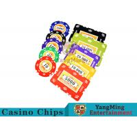 Cheap 760pcs 12g Sticker Pure Clay Poker Chip Sets With Number And UV logo wholesale