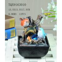 Cheap Bird On Bush Resin Small Outdoor Water Fountains With Circling Water Highlight for sale