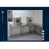 Stainless Steel Wall Bench Computer Lab Furniture With Pass Box