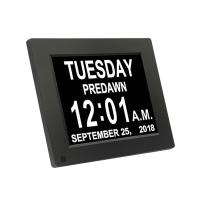 Cheap 8 Inch Digital Calender Video Brochure Day Clock Hd LCD Screen Backlight USB Snooze wholesale