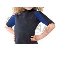 China Premium Neoprene 2mm Kids Shorty Wetsuit Laminated With Nylon Jersey Double Side on sale