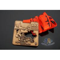Buy cheap Judo Sports Events Award Medals And Ribbons Cut Out Type With Copper Or Bronze from wholesalers