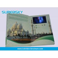 Cheap 4.3 inch / 5 Inch TFT LCD Video Brochure , Folded LCD Greeting Card wholesale
