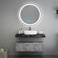 Cheap Black Marble Countertops Unique Bathroom Vanities , Touch Mirror Bathroom Sink Vanity Unit wholesale
