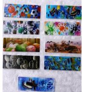 Cheap PLASTIC LENTICULAR paper and plastic 3d lenticular bookmark printing flip 3d moving 3d bookmarks wholesale wholesale