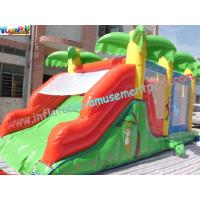 Cheap Custom Large Inflatable Bouncer Slide PVC Tarpaulin With 6Lx4Wx4H Meter wholesale