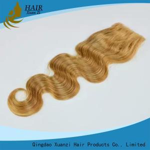 Buy cheap Dark Brown Human Hair Top Closures with Natural Baby Hair No Shedding No Tangle from wholesalers