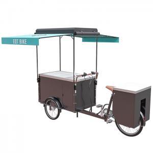 Customizable Bicycle Freezer Cart For Vending Ice Cream CE Certificate