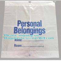 Quality Dissolvable Laundry Bags Drawstring Patient Belongings Bag With Rigid Handle for sale