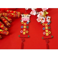 Cheap 40*10cm Felt Holiday Decorations With Dragon And Ox Design wholesale