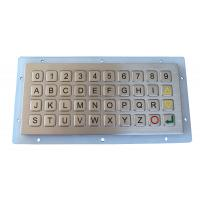 Cheap IP 68 Water-proof And Dust-proof 40 Keys Mini Metal Keyboard / Keypad With Panel Mount For Out Door Use wholesale