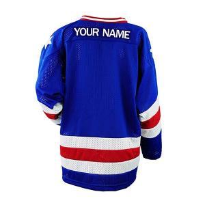 Cheap Premium College Ice Hockey Jerseys Blue Color Lightweight Lightweight wholesale