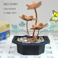 Cheap Portable Indoor Table Water Fountain For Home Decoration , Leaf Design  25 X 14 X 28 Cm for sale