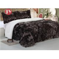 "Cheap Polyester Double Sided Quilt Comforter Faux Fur Fleece Throw , Soft Plush Blankets King Size 92""*96"" wholesale"