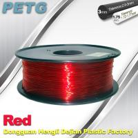 Cheap Hight Transparent Red PETG 3D Printer Filament Acid And Alkali Resistance 1.0kg / roll wholesale