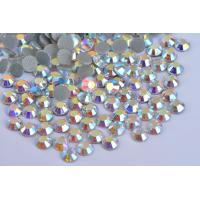 Cheap Strong Glue Loose Lead Free Rhinestones 12 - 14 Facets For Garment Decoration wholesale