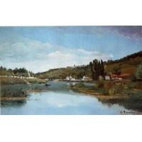 Cheap Impressionist(3830) The_Banks_of_the_Marne_at_Chennevieres wholesale